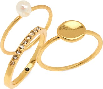 Madewell Freshwater Pearl Ring Set