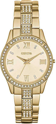 GENEVA Womens Crystal-Accent Bracelet Watch