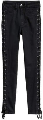 H&M Petite Fit Pants with Laces - Black
