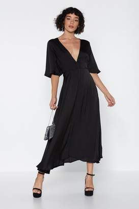 Nasty Gal Give It a Whirl Plunging Dress