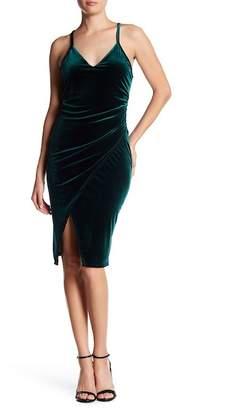 Vanity Room Velvet Ruched Split Dress