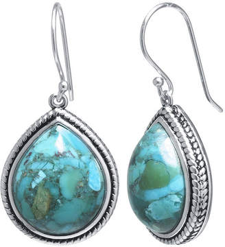 FINE JEWELRY Enhanced Turquoise Sterling Silver Teardrop Drop Earrings