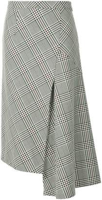 Robert Rodriguez check pattern asymmetric skirt