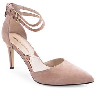 Adrienne Vittadini Nolia Suede dOrsay Pumps $99 thestylecure.com