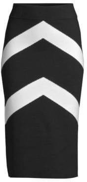Victor Glemaud Midi Cheron Stripe Knit Skirt