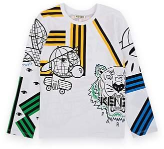 Kenzo Kids' Mixed-Print Cotton T-Shirt