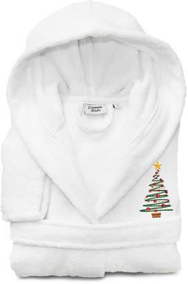 Asstd National Brand Linum Kids 100% Turkish Cotton Hooded Terry Bathrobe - Christmas Tree