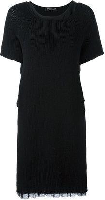 Twin-Set sheer hem detail dress $193.69 thestylecure.com
