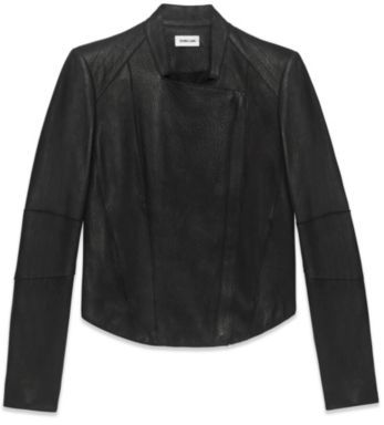 Helmut Lang Wither Fitted Leather Jacket