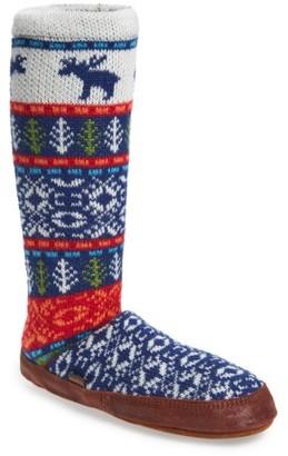 Women's Acorn Print Slipper Sock