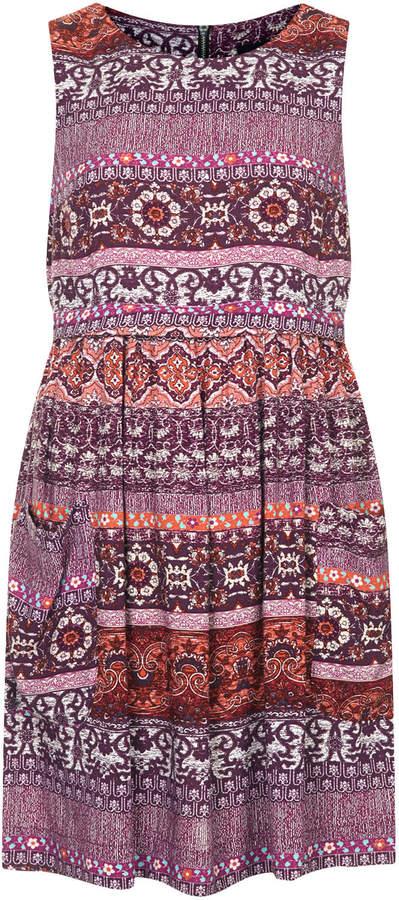 Topshop Folklore print dress