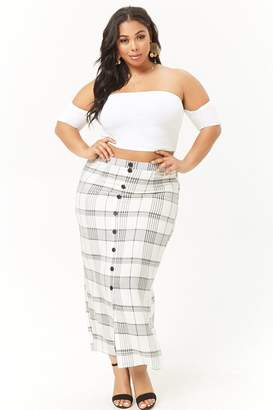 Forever 21 Plus Size Plaid Maxi Skirt