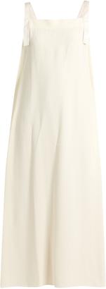 HELMUT LANG Apron tie-side crepe dress $595 thestylecure.com