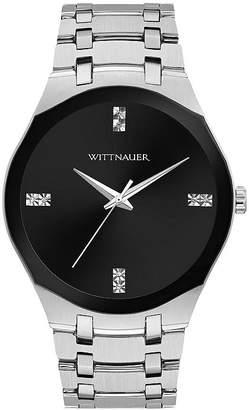 Wittnauer Mens Silver Tone Bracelet Watch-Wn3084