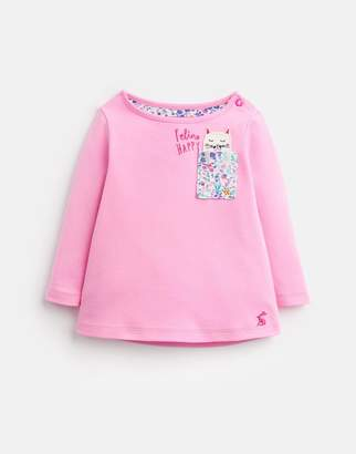 Joules Clothing Ava Long Sleeve Applique Top