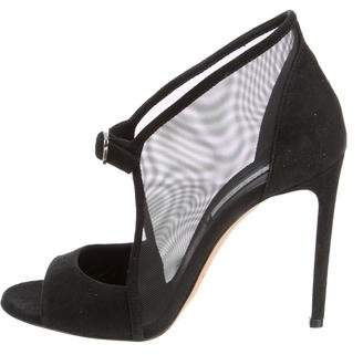 Casadei Suede & Mesh Pointed-Toe Pumps $375 thestylecure.com