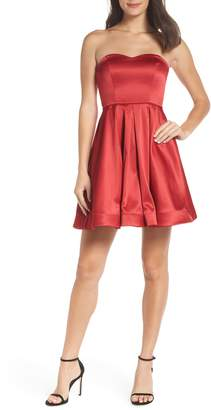 Sequin Hearts Satin Removable Strap Party Dress