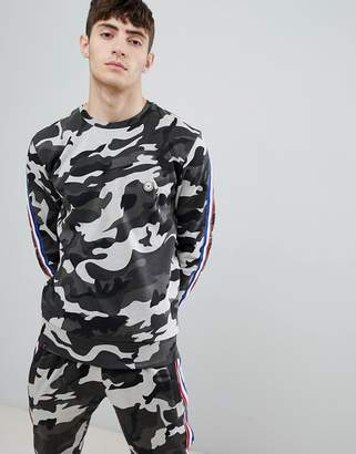 Le Breve Camo Sweatshirt With Taping