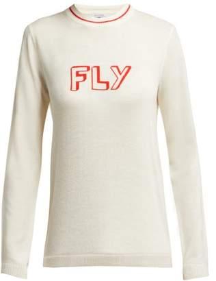 Bella Freud Fly Merino Wool Sweater - Womens - Ivory Multi
