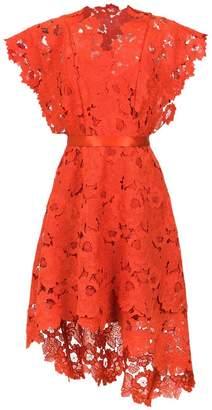 Tufi Duek lace belted dress