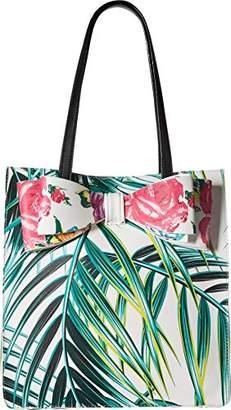 Betsey Johnson Palm Print Bow Tote