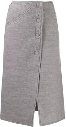 Courreges felted midi skirt