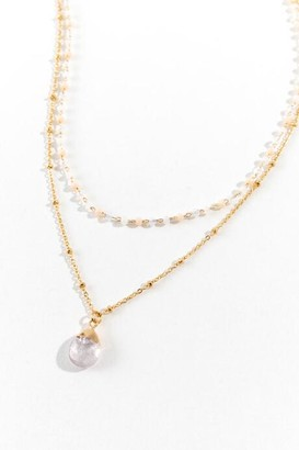 francesca's Camille Layered Rosary Necklace - Clear