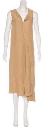Acne Studios Linen Blend Knee-Length Dress