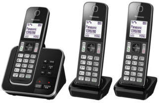 Panasonic NEW KX-TGD323ALB DECT Cordless Phone with Answering Machine Triple Pack