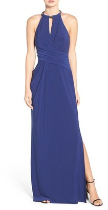 Laundry by Shelli Segal Chain Neck Jersey Gown $295 thestylecure.com