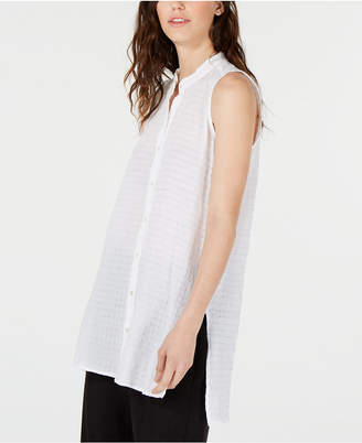 Eileen Fisher Organic Cotton Sleeveless Blouse, Regular & Petite