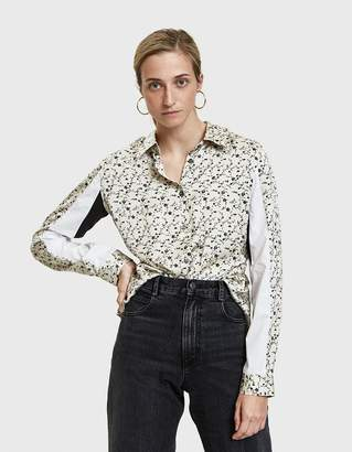 Aalto Standing Collar Floral Print Shirt