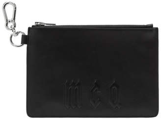 McQ Black Logo Passport Pouch