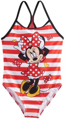 Disney Disney's Minnie Mouse Girls 4-6x Striped One Piece Swimsuit