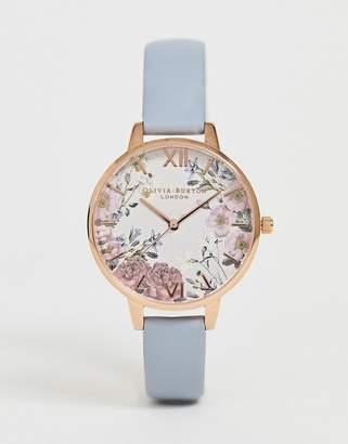 f565e7aae Olivia Burton OB16EG132 British Blooms demi leather watch