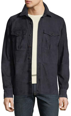 Ralph Lauren Men's Suede Shirt Jacket