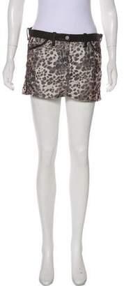 Etoile Isabel Marant Mini Animal Print Skirt