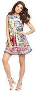 Replay Printed Dress In Multi Size L