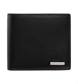 HUGO BOSS Signature Embossed Leather 4Cc Billfold Wallet