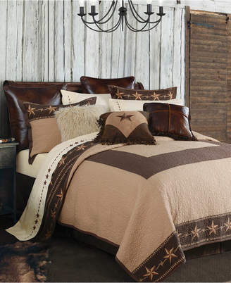 Hiend Accents Star Ranch 3 Pc King Quilt Set