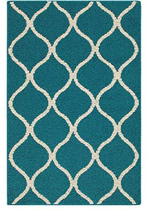 Maples Rugs Kitchen Rug - Rebecca 2'6 x 3'10 Non Skid Small Accent Throw Rugs [Made in USA] for Entryway and Bedroom