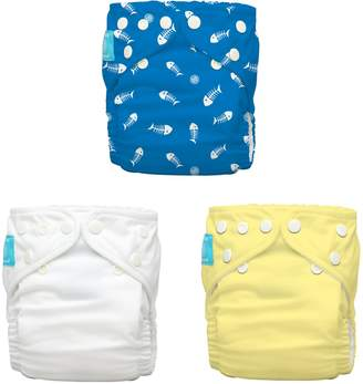 Charlie Banana 2-in-1 Reusable Diapering System, 3 Diapers plus 6 Inserts