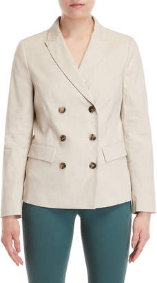Peserico Linen Double-Breasted Blazer