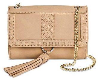 Women's Woven Detail Envelope Clutch Handbag with Crossbody Strap  - Merona $16.99 thestylecure.com