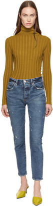 Moussy Vintage Blue MVS Shell Tapered Skinny Jeans