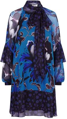 Diane von Furstenberg Effie Floral Mini Dress