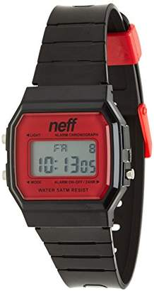 Neff Unisex NF0204BKRD Flava Digital Display Chinese Automatic Black Watch