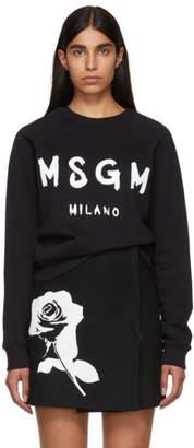 MSGM Black Milano Logo Sweatshirt