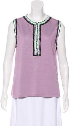 Andrew Gn Silk Sleeveless Top