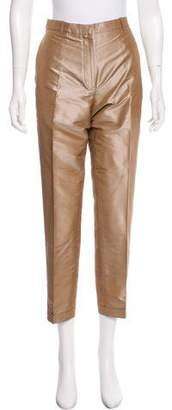 Hermes Silk Mid-Rise Pants